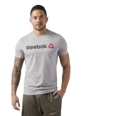 T-shirt avec inscription Reebok - Gris