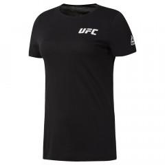 T-shirt Femme Reebok avec logo UFC - Noir