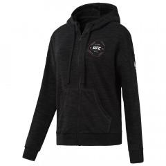 Sweatshirt Femme à zip intégral Reebok UFC - Noir