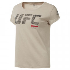 T-shirt Femme Reebok UFC Fight Week - Beige