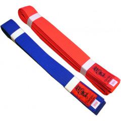 Ceinture Kumite Kaiten rouge/Bleue.