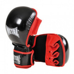 "Gants MMA Metal Boxe ""Sparring"" - Noir/Rouge"