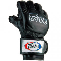 Gloves for free fight, thumb attached - Black