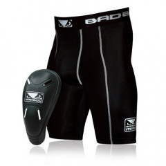 "Compression shorts and integrated groin guards Bad Boy ""Defender 2.0"" - Black"