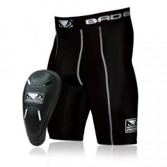 "Compression shorts and integrated groin guards Bad Boy ""Defender 2.0"" - Black"