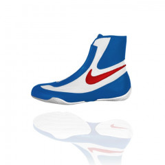 "Chaussures de boxe Nike semi-montantes ""Machomai"" - White/Blue/Red"