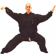 "Tai Chi Uniform Embroided ""Premium"" Black"