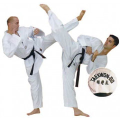 Dobok Fuji Mae Entry Tergal, White Collar.