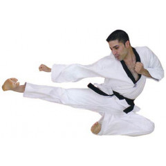 Dobok Master Black Collar - White
