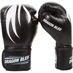 Boxing Gloves Dragon Bleu- Black