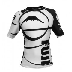 Rashguard Fuji Sports Freestyle IBJJF Ranked - Manches courtes - Blanc