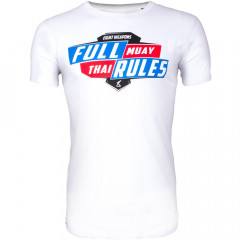 T-shirt 8 Weapons Full Muay Thaï Rules - Blanc