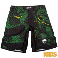 Venum Green Viper Kids Fightshorts - Black/Green