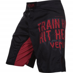 Venum Train Hard Hit Heavy Fighshorts - Black