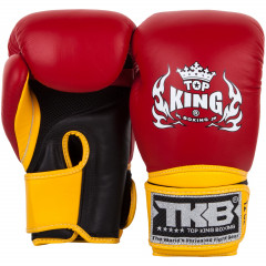Gants de boxe Top King Super Air - Rouge/Jaune