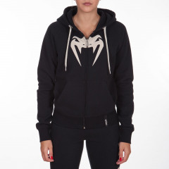 Venum Infinity Hoody with zip - Black - White logo