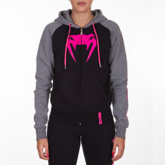 Venum Infinity Hoody with zip - Black/Grey - Pink logo