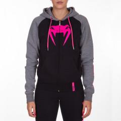 Venum Infinity Hoody with zip - Black/Grey - For Women