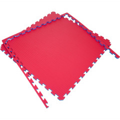 Puzzle mats 100x100x4cm (x5) - Red/Blue