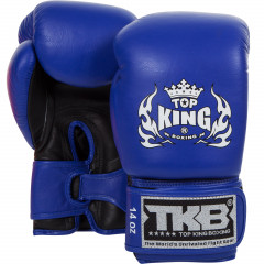 Boxing gloves Double Velcro Neon 2016 - Blue/Black