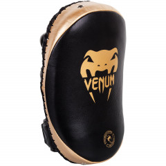 Venum Kick Pads Leather-Black/Gold