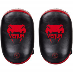 Venum Kick Pads Leather-Black/Red (100)
