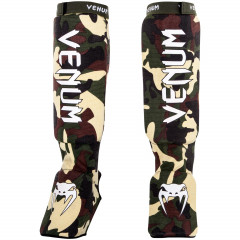 Venum Kontact Shinguards - Forest Camo