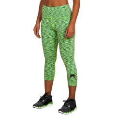Venum Heather Legging Crops - Heather Blue/Green