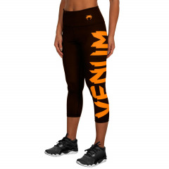 Venum Giant Leggings Crops - Black/Corail - For Women