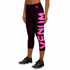Venum Giant Leggings Crops - Black/Neo Pink - For Women