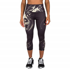 Venum Santa Muerte Leggings Crops - Black/Yellow - For Women