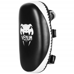"Venum ""Light"" Kick Pad - Skintex Leather - Black/Ice (Pair)"