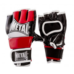 Metal Boxe Gloves for free fighting,  attached thumb- Black/Red/White