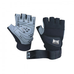 Metal Boxe Gloves for bodybuilding – Black