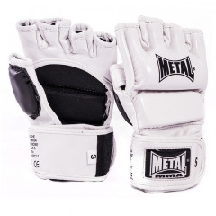 Metal Boxe Gloves for free fight - MMA - White