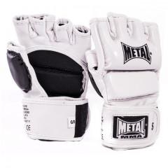 Gants de Combat Libre Metal Boxe - MMA - Blanc