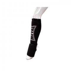 Metal Boxe Shin and step pad, cotton – black