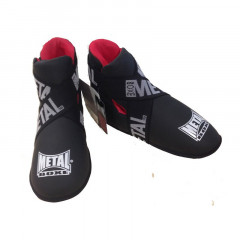 Protège pieds Full Contact Metal Boxe - Noir