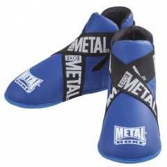 Metal Boxe  Foot Guards Full Contact - Blue