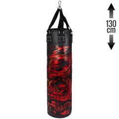 Venum Dragon's Flight Heavy Bag - Black/Red - Filled - 130cm