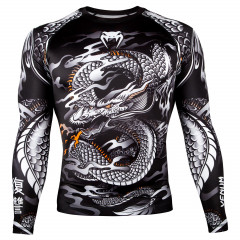 Venum Dragon's Flight Rashguard - Long Sleeves - Black/White