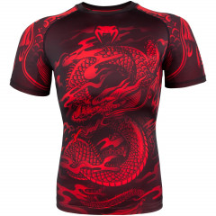 Venum Dragon's Flight Rashguard - Short Sleeves - Black/Red
