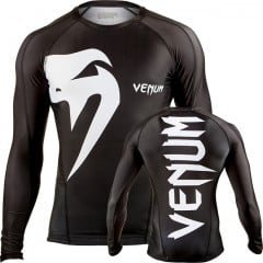 "Venum ""Giant"" rashguard - Black - Long sleeves"