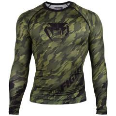 Venum Tecmo Rashguard - Long Sleeves - Khaki - Exclusive