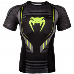 Venum Technical 2.0 Rashguard - Short Sleeves - Black/Yellow