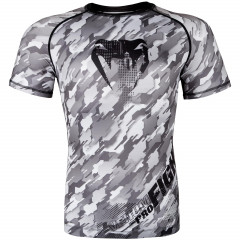 Venum Tecmo Rashguard - Short Sleeves - Black/Grey