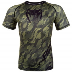 Venum Tecmo Rashguard - Short Sleeves - Khaki - Exclusive