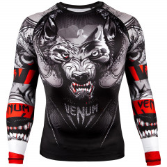 Venum Werewolf Rashguard - Long Sleeves - Black/Grey
