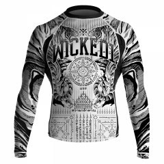 Rashguard Wicked One Tiger - Blanc