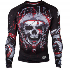 Venum Pirate 3.0 Rashguard - Black/Red - Long Sleeves